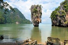 Île de James Bond, Phang Nga, Thaïlande Images libres de droits