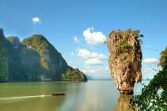 Île de Ko Tapu en Thaïlande Photographie stock