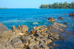 Île de KOH-Kood en Thaïlande Images libres de droits