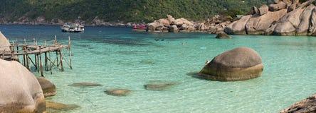 Île de Koh Nangyuan, Thaïlande Photo libre de droits