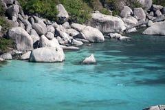 Île de Koh Nangyuan, Thaïlande Photos libres de droits