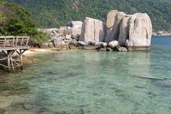 Île de Koh Nangyuan, Thaïlande Photographie stock libre de droits