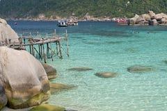 Île de Koh Nangyuan, Thaïlande Images stock
