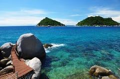 Île de Koh Tao, Thaïlande Images libres de droits