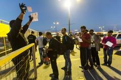 Île de Kos, Grèce - crise européenne de réfugié photos libres de droits