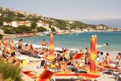 Île de KRK - Croatie Photos stock