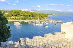 Île de Krk, Croatie images stock