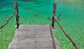 Île de l'eau de vert de Koh Nang Yuan, Thaïlande Images libres de droits