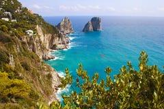 Île de l'Italie Capri Image libre de droits