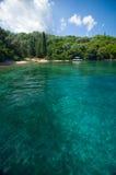 Île de la Grèce - de Leucade - du Meganisi Photos stock