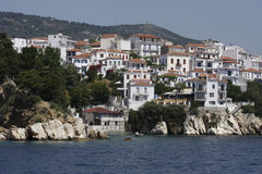 Île de la Grèce Skyatos photographie stock