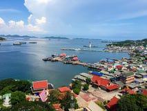 Île de la vue supérieure SI Chang, Thaïlande photo stock