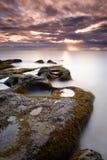 Île de Labuan de lever de soleil photo stock