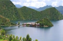 Île de lac Image libre de droits