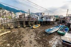 Île de Lantau de village de pêche de Tai O Hong Kong Images libres de droits