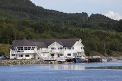 Île de Leka, Norvège, centre pour le pêcheur Photos libres de droits