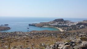 Île de Lindos Bay Photo libre de droits