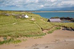 Île de Llanddwyn, Anglesey, Gwynedd, Pays de Galles du nord, R-U Images stock