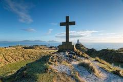 Île de Llanddwyn au Pays de Galles Photographie stock libre de droits