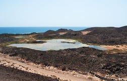 Île de Lobos, Fuerteventura, Îles Canaries, Espagne Images stock
