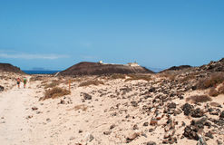 Île de Lobos, Fuerteventura, Îles Canaries, Espagne Images libres de droits