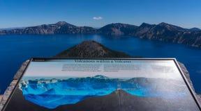 Île de magicien, volcan image stock