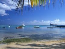 Île de Malheureux Îles Maurice de cap de plage Photographie stock libre de droits