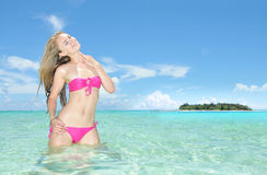 Île de Managaha Photos libres de droits