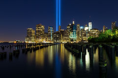 Île de Manhattan le 11 septembre Photos libres de droits