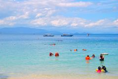 Île de Manukan Photographie stock libre de droits