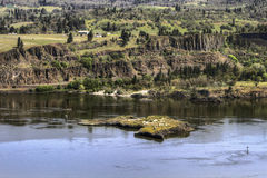 Île de Memaloose sur le Fleuve Columbia Image libre de droits