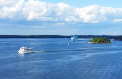 Île de mer baltique en été images libres de droits