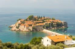 Île de Montenegrian St Stephen Photographie stock