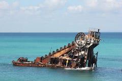 Île de Moreton de naufrage Images libres de droits
