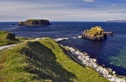 Île de moutons Rocky Antrim Coast Photo libre de droits