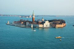 Île de Murano dans la lagune vénitienne, Italie image libre de droits