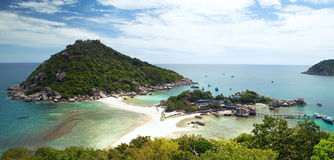 Île de Nangyuan en Thaïlande Images libres de droits