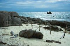 Île de Nangyuan et la plongée Image libre de droits