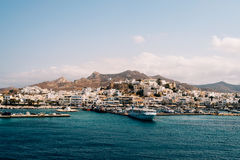 Île de Naxos de la mer Image libre de droits