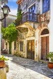 Île de Naxos traditionnelle, vieilles rues La Grèce image libre de droits