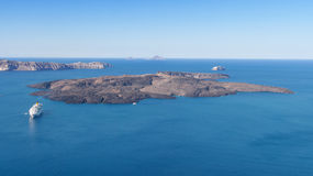 Île de Nea Kameni Photos libres de droits