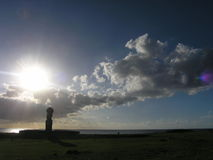 Île de Pâques - Ahu Tahai Image stock