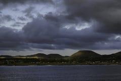 Île de Pâques au crépuscule Image libre de droits