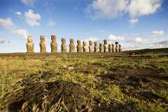 Île de Pâques de statues Photographie stock