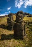 Île de Pâques -, tête d'un moai simple Photos libres de droits