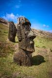Île de Pâques -, tête d'un moai simple Images libres de droits