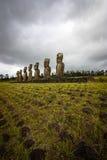 Île de Pâques -, tête d'un moai simple Photographie stock