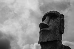 Île de Pâques -, tête d'un moai simple Images stock