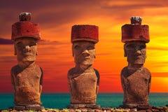 Île de Pâques Threesome Images libres de droits