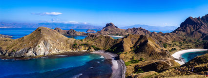 Île de Padar, Indonésie Photo libre de droits